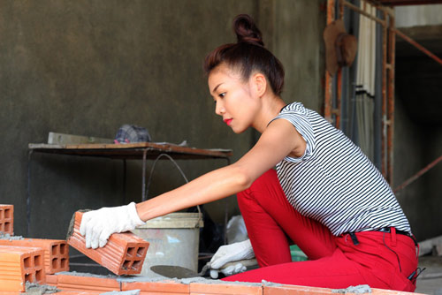 Thợ xây trát tường, thợ xây dựng ở Hà Nội