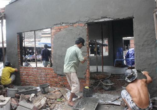 Thợ xây trát tường, thợ xây dựng ở Hà Nội 1