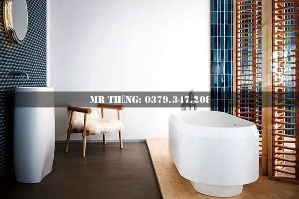 Xu hướng kết hợp gạch lát nền nhà tắm đẹp 2018 9
